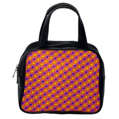 Vibrant Retro Diamond Pattern Classic Handbags (One Side)
