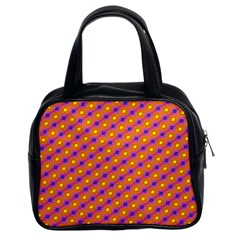 Vibrant Retro Diamond Pattern Classic Handbags (2 Sides)