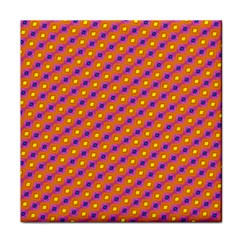 Vibrant Retro Diamond Pattern Face Towel