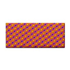 Vibrant Retro Diamond Pattern Hand Towel