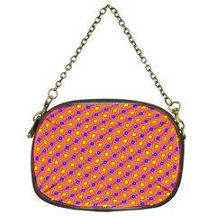 Vibrant Retro Diamond Pattern Chain Purses (One Side)