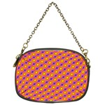 Vibrant Retro Diamond Pattern Chain Purses (One Side)  Front