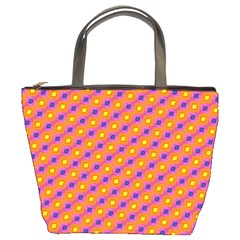 Vibrant Retro Diamond Pattern Bucket Bags