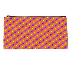 Vibrant Retro Diamond Pattern Pencil Cases
