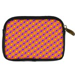 Vibrant Retro Diamond Pattern Digital Camera Cases Back