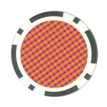Vibrant Retro Diamond Pattern Poker Chip Card Guards (10 pack)  Front
