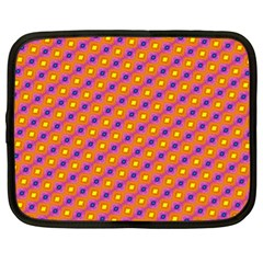 Vibrant Retro Diamond Pattern Netbook Case (xl)  by DanaeStudio