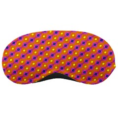 Vibrant Retro Diamond Pattern Sleeping Masks