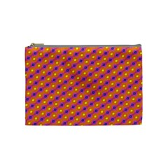 Vibrant Retro Diamond Pattern Cosmetic Bag (Medium)