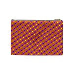 Vibrant Retro Diamond Pattern Cosmetic Bag (Medium)  Back