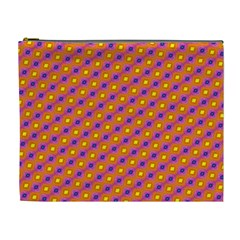 Vibrant Retro Diamond Pattern Cosmetic Bag (XL)