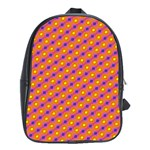 Vibrant Retro Diamond Pattern School Bags(Large)  Front