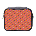 Vibrant Retro Diamond Pattern Mini Toiletries Bag 2-Side Front