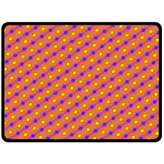 Vibrant Retro Diamond Pattern Fleece Blanket (large)  by DanaeStudio