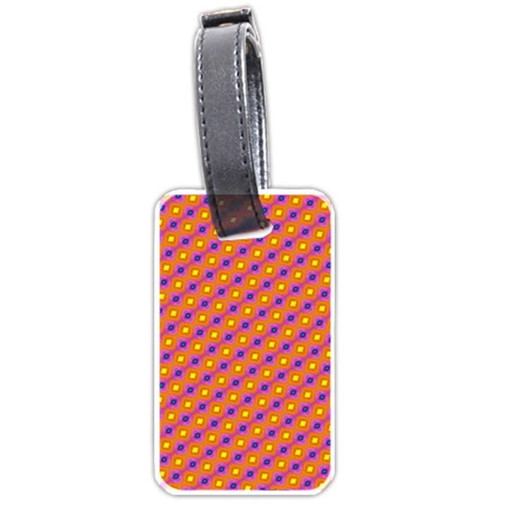 Vibrant Retro Diamond Pattern Luggage Tags (One Side)