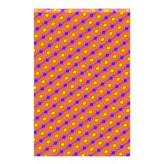 Vibrant Retro Diamond Pattern Shower Curtain 48  x 72  (Small)