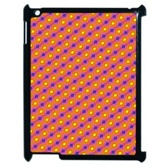 Vibrant Retro Diamond Pattern Apple iPad 2 Case (Black)