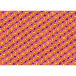 Vibrant Retro Diamond Pattern Heart Bottom 3D Greeting Card (7x5) Back