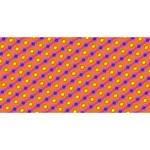Vibrant Retro Diamond Pattern BEST SIS 3D Greeting Card (8x4) Front