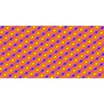 Vibrant Retro Diamond Pattern PARTY 3D Greeting Card (8x4) Back