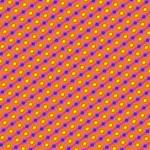 Vibrant Retro Diamond Pattern Laugh Live Love 3D Greeting Card (8x4) Inside