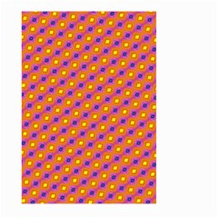 Vibrant Retro Diamond Pattern Large Garden Flag (Two Sides)