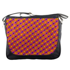 Vibrant Retro Diamond Pattern Messenger Bags by DanaeStudio