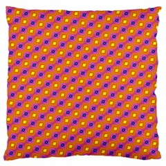 Vibrant Retro Diamond Pattern Large Cushion Case (One Side)