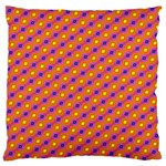 Vibrant Retro Diamond Pattern Large Cushion Case (Two Sides) Back