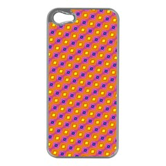 Vibrant Retro Diamond Pattern Apple iPhone 5 Case (Silver)
