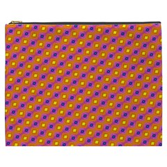 Vibrant Retro Diamond Pattern Cosmetic Bag (XXXL)