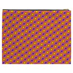 Vibrant Retro Diamond Pattern Cosmetic Bag (XXXL)  Back