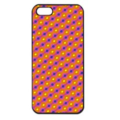 Vibrant Retro Diamond Pattern Apple Iphone 5 Seamless Case (black) by DanaeStudio