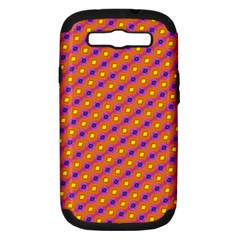 Vibrant Retro Diamond Pattern Samsung Galaxy S Iii Hardshell Case (pc+silicone) by DanaeStudio