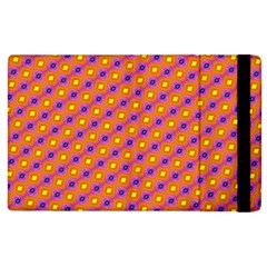 Vibrant Retro Diamond Pattern Apple iPad 3/4 Flip Case