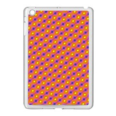 Vibrant Retro Diamond Pattern Apple iPad Mini Case (White)
