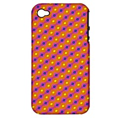Vibrant Retro Diamond Pattern Apple iPhone 4/4S Hardshell Case (PC+Silicone)