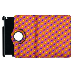 Vibrant Retro Diamond Pattern Apple iPad 2 Flip 360 Case