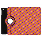 Vibrant Retro Diamond Pattern Apple iPad Mini Flip 360 Case Front