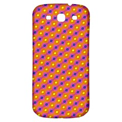 Vibrant Retro Diamond Pattern Samsung Galaxy S3 S III Classic Hardshell Back Case