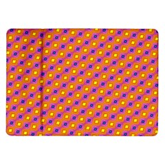 Vibrant Retro Diamond Pattern Samsung Galaxy Tab 10 1  P7500 Flip Case