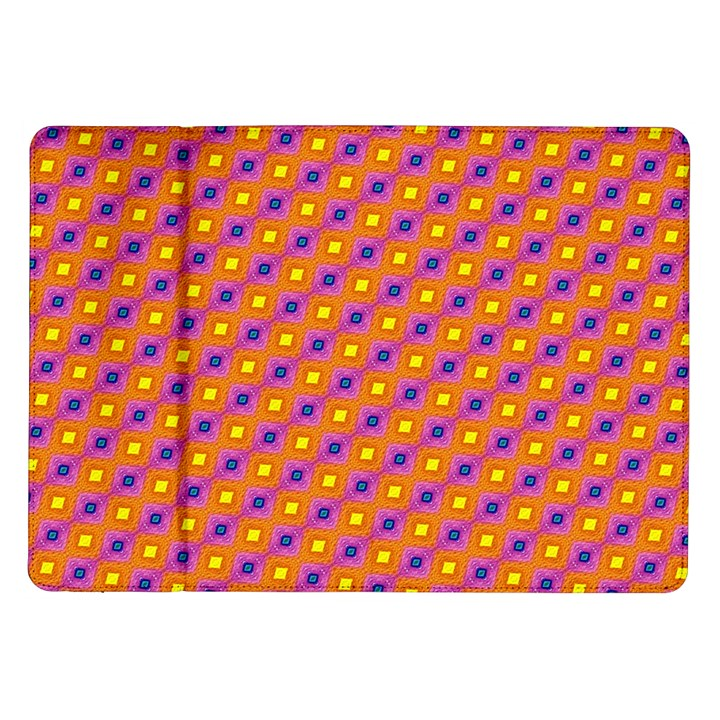 Vibrant Retro Diamond Pattern Samsung Galaxy Tab 10.1  P7500 Flip Case