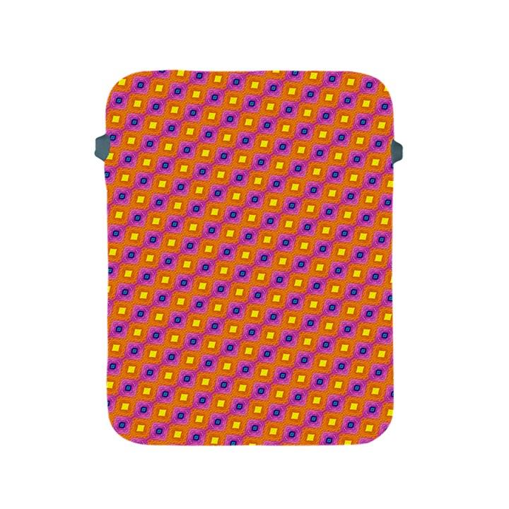 Vibrant Retro Diamond Pattern Apple iPad 2/3/4 Protective Soft Cases