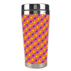 Vibrant Retro Diamond Pattern Stainless Steel Travel Tumblers