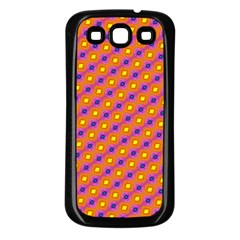 Vibrant Retro Diamond Pattern Samsung Galaxy S3 Back Case (Black)