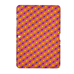 Vibrant Retro Diamond Pattern Samsung Galaxy Tab 2 (10.1 ) P5100 Hardshell Case