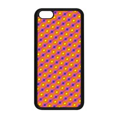 Vibrant Retro Diamond Pattern Apple Iphone 5c Seamless Case (black) by DanaeStudio