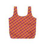 Vibrant Retro Diamond Pattern Full Print Recycle Bags (S)  Back