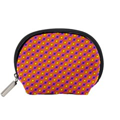 Vibrant Retro Diamond Pattern Accessory Pouches (Small)