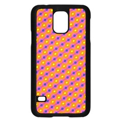 Vibrant Retro Diamond Pattern Samsung Galaxy S5 Case (Black)